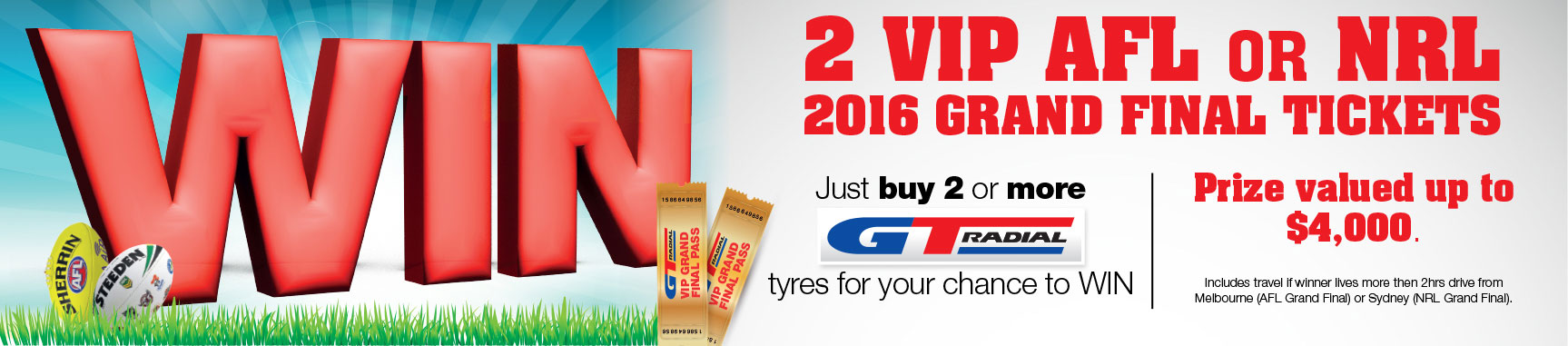 GT Radial Win VIP Grand Final Tickets